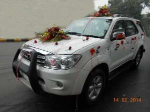 Fortuner wedding car