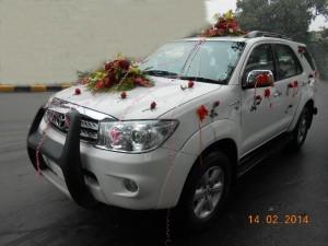 Fortuner wedding car
